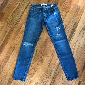 Abercrombie and Fitch skinny blue jeans